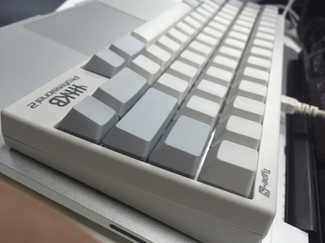 HHKB Pro2 Type-S 无刻 配 MacBook Pro Retina