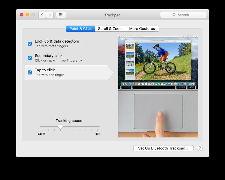 mac trackpad 设置
